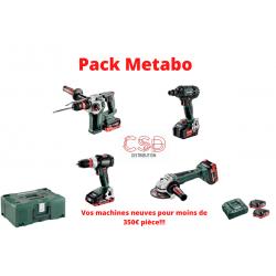 Pack 4 machines Metabo